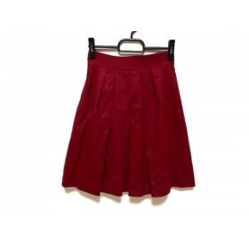 【中古】 ジャスグリッティー JUSGLITTY スカート サイズ0 XS レディース ボルドー