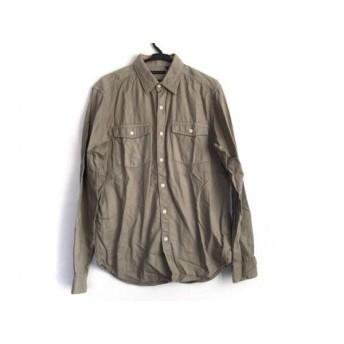 【中古】 セオリー theory 長袖シャツ サイズ0 XS メンズ カーキ
