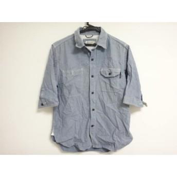 【中古】 セダークレスト CEDARCREST 半袖シャツ サイズS メンズ ライトブルー