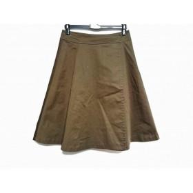 【中古】 エストネーション ESTNATION 巻きスカート サイズ38 M レディース カーキ