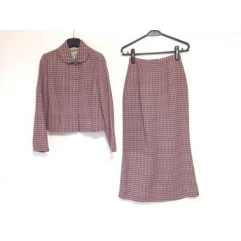 【中古】 ホコモモラ JOCOMOMOLA スカートスーツ レディース ライトグリーン レッド ロングスカート
