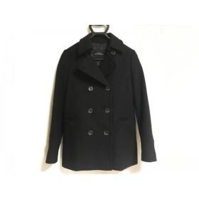 【中古】 グリーンレーベルリラクシング Pコート サイズ38 M レディース 美品 黒 冬物