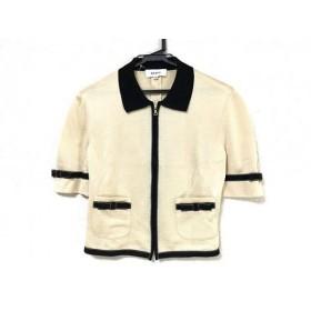 【中古】 バリー BALLY ジャケット サイズ38 S レディース 美品 ベージュ 黒 ニット/ジップアップ