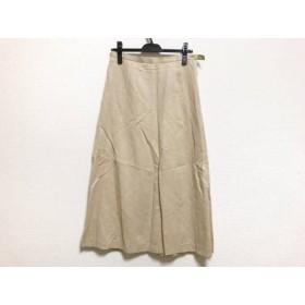 【中古】 スキャパ Scapa ロングスカート サイズ40 XL レディース ベージュ
