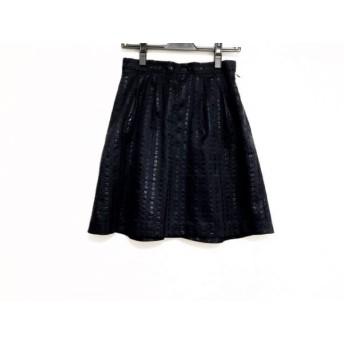 【中古】 エストネーション ESTNATION スカート サイズ38 M レディース 美品 ネイビー NINE/ドット柄