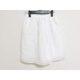 【中古】 リッチミーニューヨーク Riccimie NEW YORK スカート サイズ0 XS レディース 美品 白 ボーダー