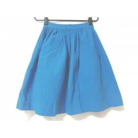 【中古】 カルヴェン CARVEN スカート サイズ36 S レディース ブルー