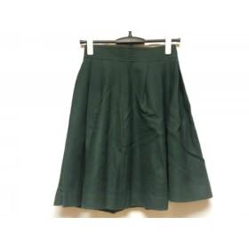 【中古】 ジャスグリッティー JUSGLITTY スカート サイズ1 S レディース グリーン プリーツ