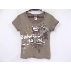 【中古】 ディーゼル DIESEL 半袖Tシャツ サイズXS レディース ダークブラウン スパンコール