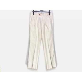 【中古】 バーバリーズ Burberry's パンツ サイズ82 メンズ アイボリー