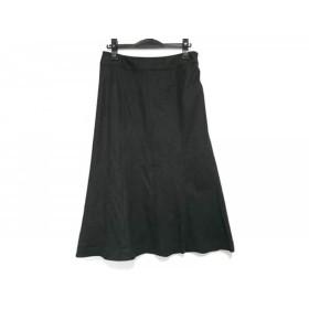 【中古】 ニジュウサンク 23区 スカート サイズ44 L レディース 黒