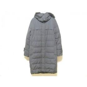 【中古】 プラステ PLS+T(PLST) ダウンコート サイズ4 XL レディース ダークグレー ファー/冬物