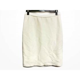 【中古】 スープ SOUP スカート サイズ9 M レディース 白 ニット