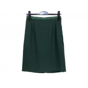 【中古】 ジャスグリッティー JUSGLITTY スカート サイズ2 M レディース グリーン フリル