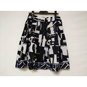 【中古】 ボディドレッシングデラックス スカート サイズ38 M レディース 黒 白 ネイビー
