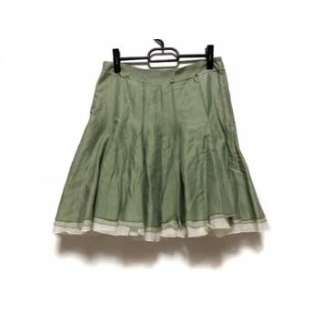 【中古】 アンテプリマ ANTEPRIMA スカート サイズ40(I) M レディース ライトグリーン アイボリー