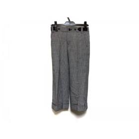 【中古】 ニジュウサンク 23区 パンツ サイズ30 XS レディース 黒 白 千鳥格子