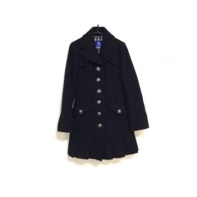 【中古】 バーバリーブルーレーベル Burberry Blue Label コート サイズ36 S レディース 美品 黒 冬物