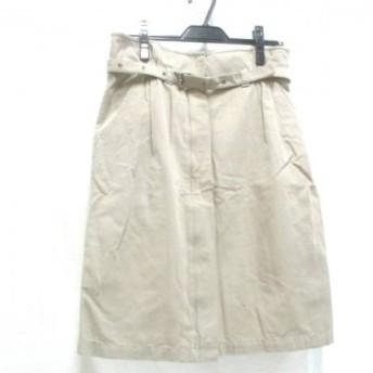 【中古】マックスマーラウィークエンド スカート サイズ42 M レディース ベージュxシルバー