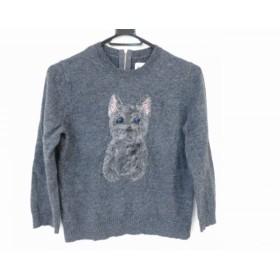 【中古】 ミュベール MUVEIL 長袖セーター サイズ38 M レディース ダークグレー マルチ 犬