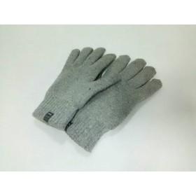 【中古】 モンベル mont-bell 手袋 M メンズ グレー アクリル ウール ポリエステル