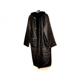 【中古】 センソユニコ SENSO-UNICO コート サイズ9 M レディース 黒 ロング丈/冬物/リバーシブル