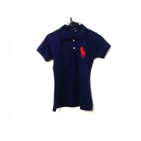 【中古】 ポロ Polo 半袖ポロシャツ サイズL ユニセックス ネイビー レッド