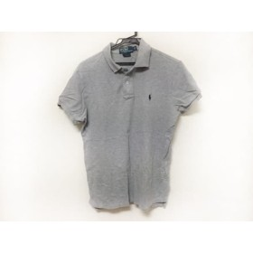 【中古】 ポロラルフローレン POLObyRalphLauren 半袖ポロシャツ サイズM メンズ グレー