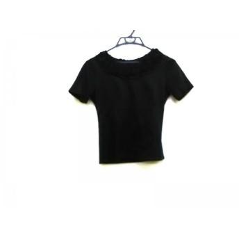 【中古】 ランバンコレクション LANVIN COLLECTION 半袖カットソー サイズ40 M レディース 黒 フリル