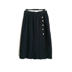 【中古】 レリアン Leilian スカート サイズ11 M レディース 黒 プリーツ