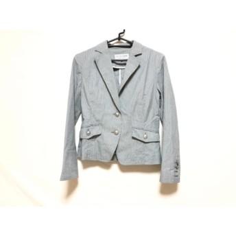 【中古】 ヴァンドゥ オクトーブル 22OCTOBRE ジャケット サイズ40 M レディース 美品 グレー 白