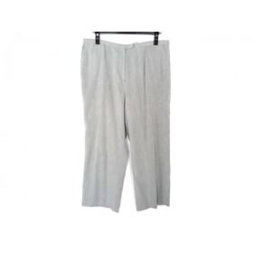 【中古】 レリアン Leilian パンツ サイズ17+ XL レディース ライトグレー 黒