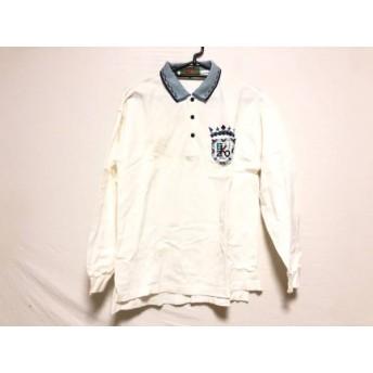 【中古】 ケンゾー KENZO 長袖ポロシャツ サイズ3 L メンズ アイボリー ライトブルー マルチ 刺繍