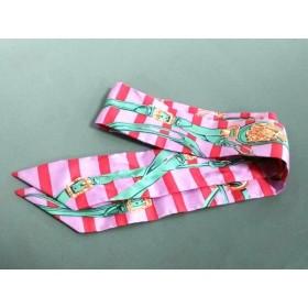 【中古】 エルメス HERMES スカーフ ツィリー 062633S-14 ピンク レッド マルチ BRIDES de GALA
