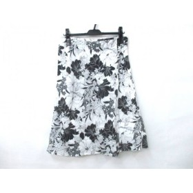 【中古】 アイシービー ICB スカート サイズ1 S レディース ホワイト ブラック