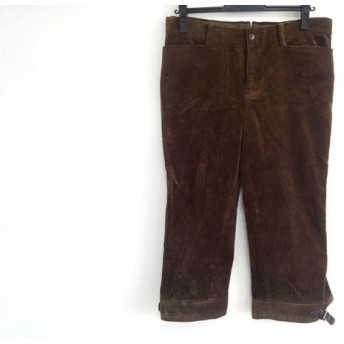 【中古】 ラルフローレン RalphLauren パンツ サイズ11 M レディース ダークブラウン コーデュロイ