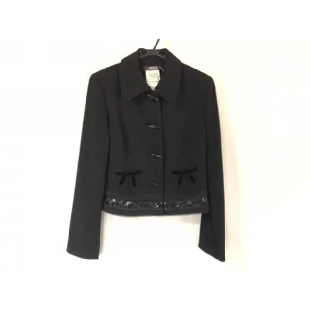 【中古】 モルガン MORGAN DE TOI ジャケット レディース 黒 スパンコール