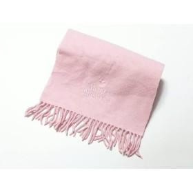【中古】 ヴィヴィアンウエストウッドアクセサリーズ マフラー ピンク オーブ/刺繍 ウール