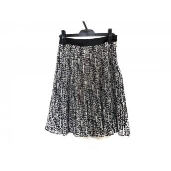 【中古】 ニジュウサンク 23区 スカート サイズ38 M レディース 美品 黒 白 ベージュ
