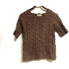 【中古】 インゲボルグ INGEBORG 半袖セーター サイズS レディース ダークブラウン