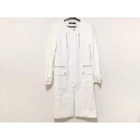 【中古】 ダナキャラン DKNY コート サイズ4 XL レディース 白 冬物 綿