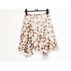 【中古】 マテリア MATERIA スカート サイズ38 M レディース ベージュ ライトブラウン ダークブラウン