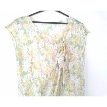 【中古】 エストネーション ワンピース サイズ38 M レディース ベージュ グリーン マルチ 花柄