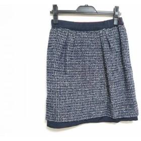 【中古】 ジャスグリッティー JUSGLITTY スカート サイズ2 M レディース レッド ダークネイビー マルチ