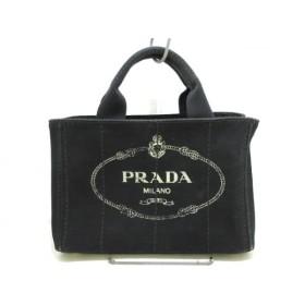 【中古】 プラダ PRADA トートバッグ CANAPA BN2439 黒 キャンバス