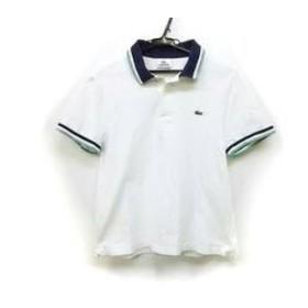 【中古】 ラコステ Lacoste 半袖ポロシャツ サイズ4 XL レディース 白 ネイビー グリーン