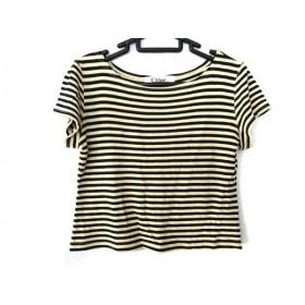 【中古】 クロエ Chloe 半袖Tシャツ サイズ40 M レディース ベージュ 黒 ボーダー