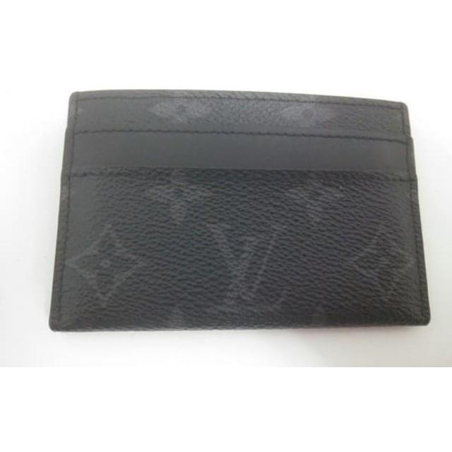 3fa905d7780c 【中古】 ルイヴィトン LOUIS VUITTON カードケース モノグラムエクリプス(キャンバス) 美品
