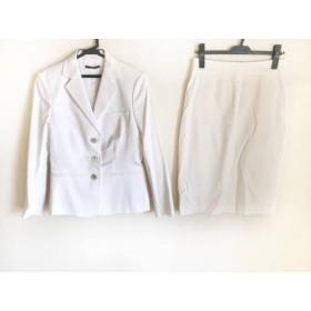 【中古】 ヒューゴボス HUGOBOSS スカートスーツ サイズ40 XL レディース アイボリー