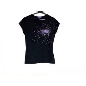 【中古】 バーバリーブルーレーベル 半袖Tシャツ サイズ38 M レディース 黒 ピンク マルチ